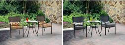 Dining Set 1 Table 2 Chairs 3 Piece Bistro Set Outdoor Garde