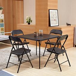 Homycasa Folding Square Set of 4 Dining Table & Chair Sets,