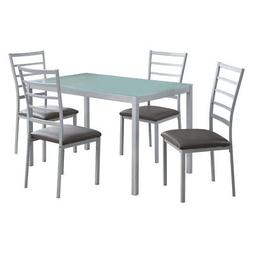 Monarch Specialties I 1026 Frosted Tempered Glass Dining Set