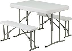 3 Piece Dining Set This Set Includes a Table and Two Benches