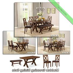 Dining Sets Wood Farmhouse Maddox Tables Chairs Benches Room