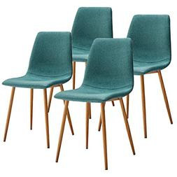 VECELO Dining Side Chairs,Fabric Cushion Seat Back Sturdy Me
