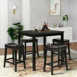 Dining Table Desk Square Writing Table Wood Metal Kitchen Ro