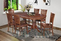 7 Piece Dining Table 42x78 Chair Set with 18 Butterfly Leaf