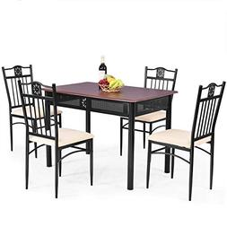 dining table chairs set vintage