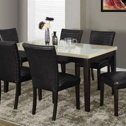 Monarch Dining Table in Cream and Brown