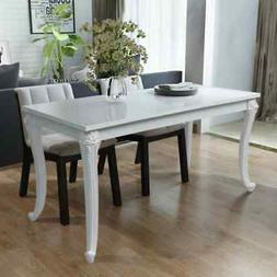 Dining Table High Gloss White Dining Room Kitchen Home Furni