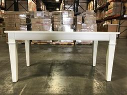 "Dining Table in White - L: 63"" W: 33.125"" H: 30.375"" - Brand"