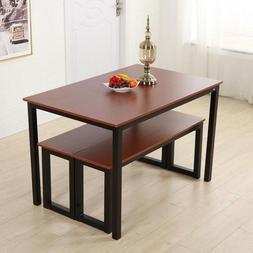 Dining Table Set 3 Piece Kitchen Furniture Bar Breakfast Noo