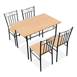 Harper & Bright Designs 5 Pieces Dining Table Set 4 Person H