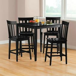 Dining Table Set 5 Piece Counter Height Chairs Tall Kitchen