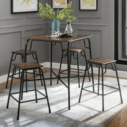 Dining Table Set 5-Piece Kitchen Dining Room Furniture 4 Cha