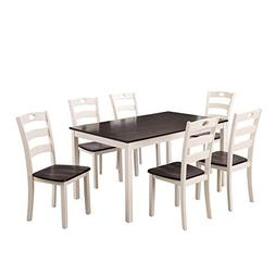 HARPER & BRIGHT DESIGNS 7 Pieces Dining Table Set for 6 Pers