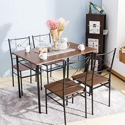 Harper Bright Design 5 pcs Dining Table Set Dining Set Dinin