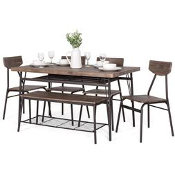 Dining Table Set Chair Bench Furniture Storage Rack Kitchen