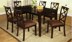 247SHOPATHOME IDF-3420T-7PK Dining-Room-Sets, Brown