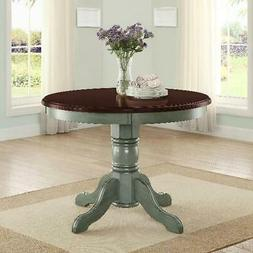 Dining Table Set Round Chairs Antique Rustic Traditional Ped