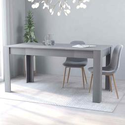 "vidaXL Dining Table Sleek Modern Gray 63"" Chipboard Home Kit"