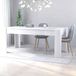 dining table sleek modern white chipboard home