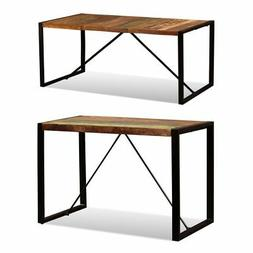 dining table solid reclaimed wood steel industrial