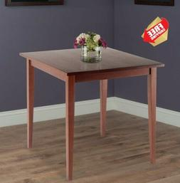 Dining Table Walnut Antique Finish Square Small Spaces Ready