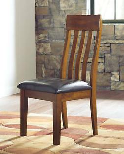 Dining Upholstered Side Chairs in Medium Brown  - Signature