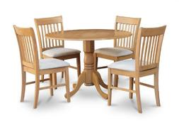 East West Furniture DLNO5-OAK-C 5-Piece Kitchen Table Set, O