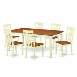 DOLG7-W  7 PC  Tables and chair set with a  Table and 6 Dini