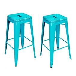Joveco 30-inch Drain Holes Style Metal Bar Stools Industrial