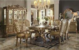 """Dresden 108"""" Double Pedestal Dining Room Table & Chairs Set"""