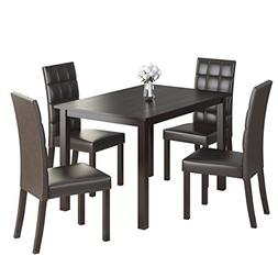CorLiving 5 Piece DRG-595-Z2 Atwood Dining Set with Leathere