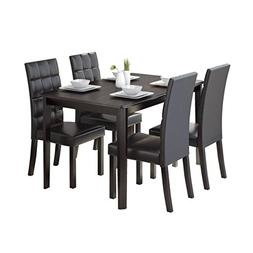 CorLiving 5 Piece DRG-695-Z4 Atwood Dining Set with Leathere