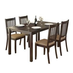CorLiving DRG-795-Z Atwood 5pc Dining Set, with Beige Microf