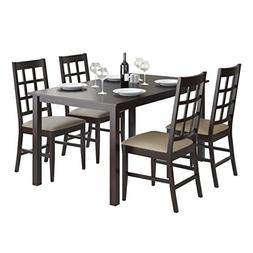 CorLiving 5 Piece DRG-795-Z6 Atwood Dining Set with Leathere