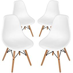 Aukronic Set of 4 Eames Eiffel DSW Style Side Dining Chair,