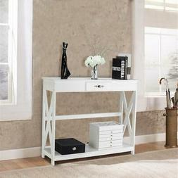 Entryway Table Sofa Table w/ Drawer Shelf Console Table Stor