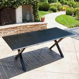 Eowyn Black Cast Aluminum Expandable Outdoor Dining Table