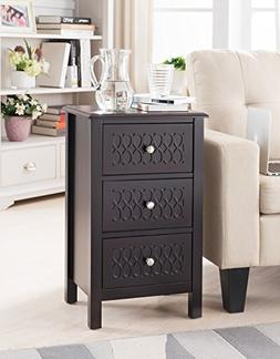 Kings Brand Furniture Espresso Finish Wood Accent Side End T