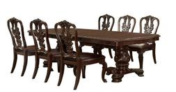 Furniture of America Evangelyn 7-Piece Dining Set with Woode