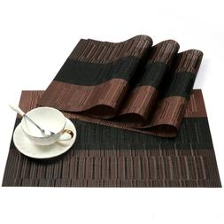 NEW Exquisite PVC Placemats Woven Vinyl Place Mats Table Hea