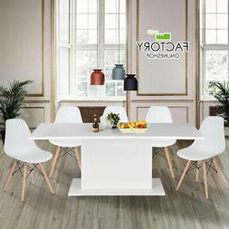 Extendable Dining Table 4-8 Seaters Kitchen Furniture Modern