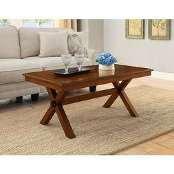 Farmhouse Coffee Table Cross Legs Wood Dining Living Room St