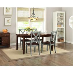 Farmhouse Dining Room Table Set Rustic Rectangle Wood Kitche