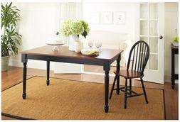 Farmhouse Dining Table Solid Wood Style Room Rectangular Kit