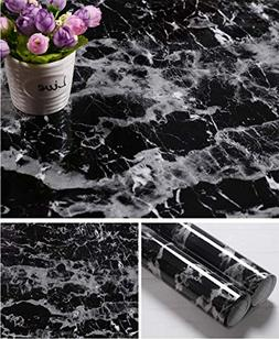 Faux Black Marble Contact Paper Self Adhesive Film Vinyl Gra