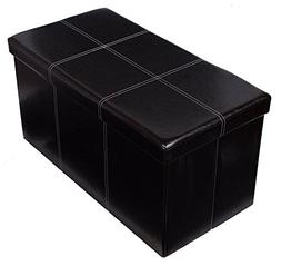 Sukala Faux Leather Folding Storage Ottoman Bench Seat Foot