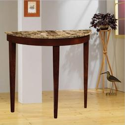 Faux Marble Top Console Table in light cherry