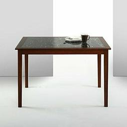 Zinus Faux Marble and Wood Dining Table/Table Only