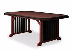 Finch Poly 3' Wide x 8' Long Mission Table with Border *Blac