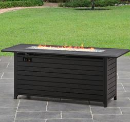 Fire Pit Dining Table Firepit Coffee Outdoor Patio Gas Deck